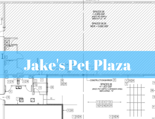 Hurd Construction Management awarded a tenant build-out for Jake's Pet Plaza
