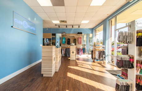 Interior of Pilates Studio Fleming Island by HURD Construction