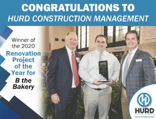 Hurd Construction Management Awarded Renovation Project of the Year.